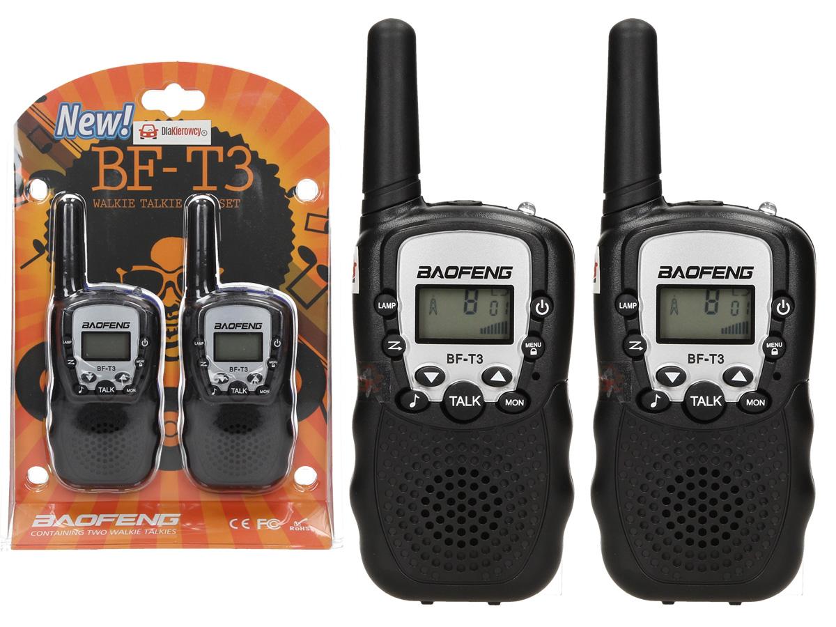 Vysielačky Baofeng T3 lakeť-toki 2 ks PMR ZP2