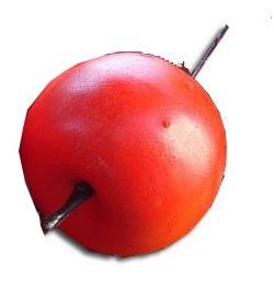 Apple jablká veľké umelé celé ovocie decor 3,5 cm