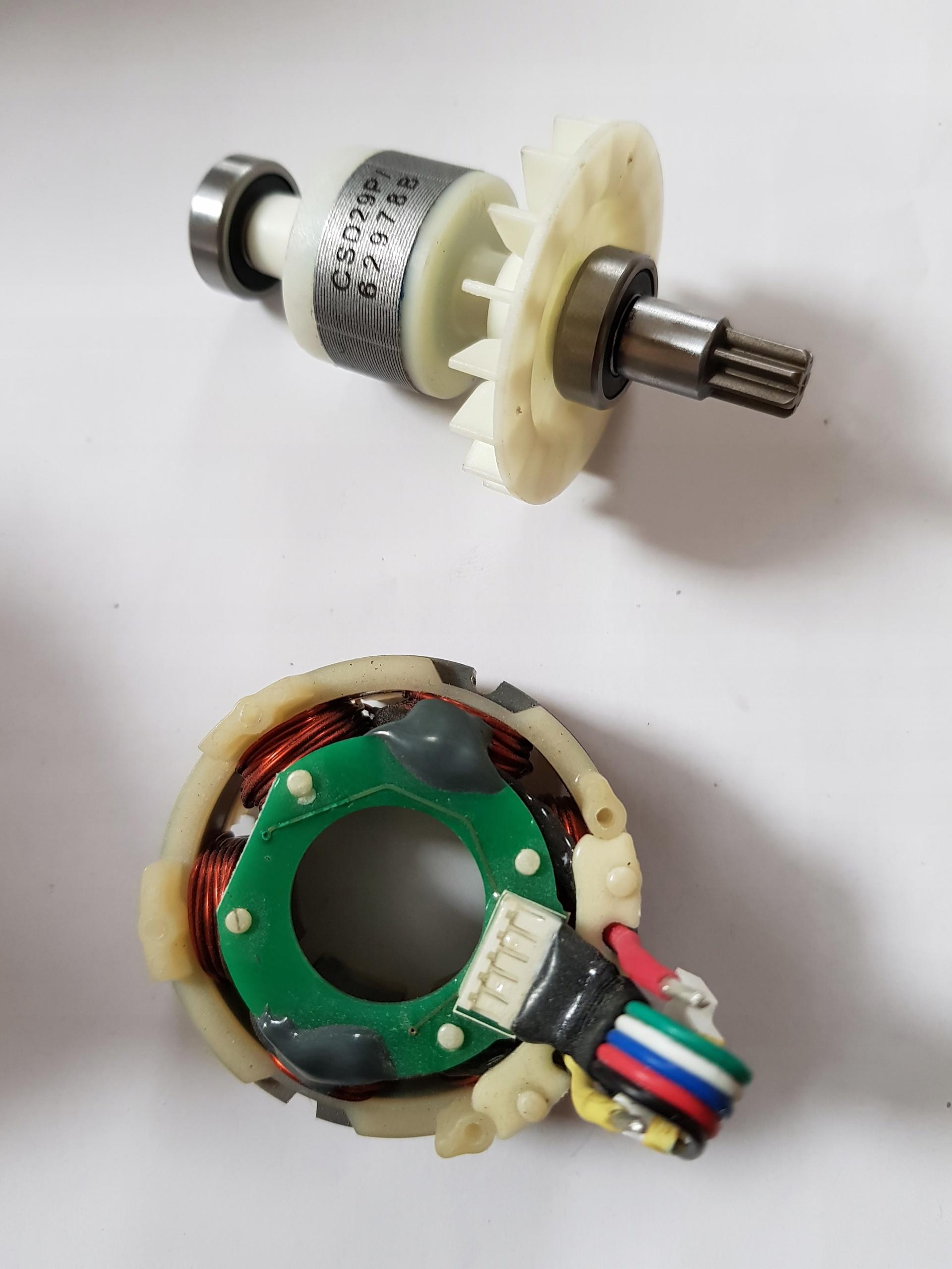 Rotor, statorového, motor, striedavé, Erbauer, Worx