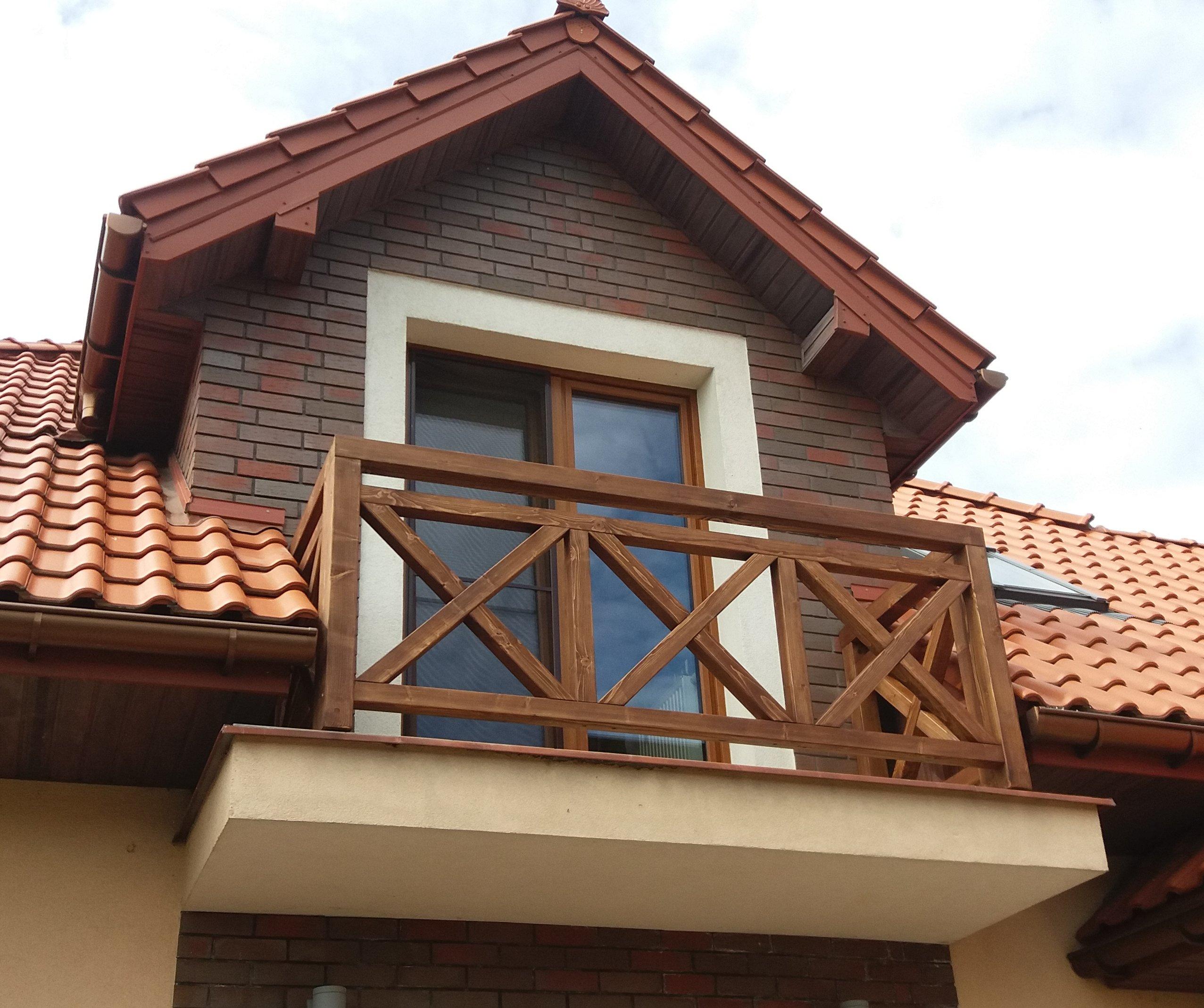 Barierki Drewniane Balustrady Balkonowe Barierki