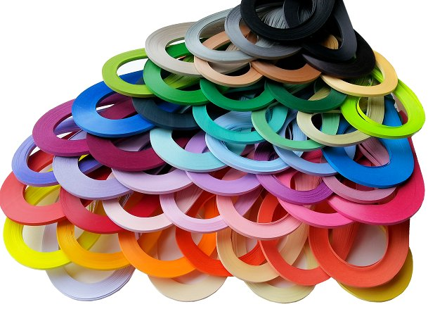 Item Quilling Strips for quillingu KIT 5 mm 200 PCs.
