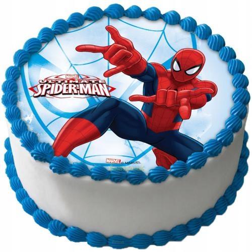 стоит торт с сахарной картинкой человек паук фото что супруги