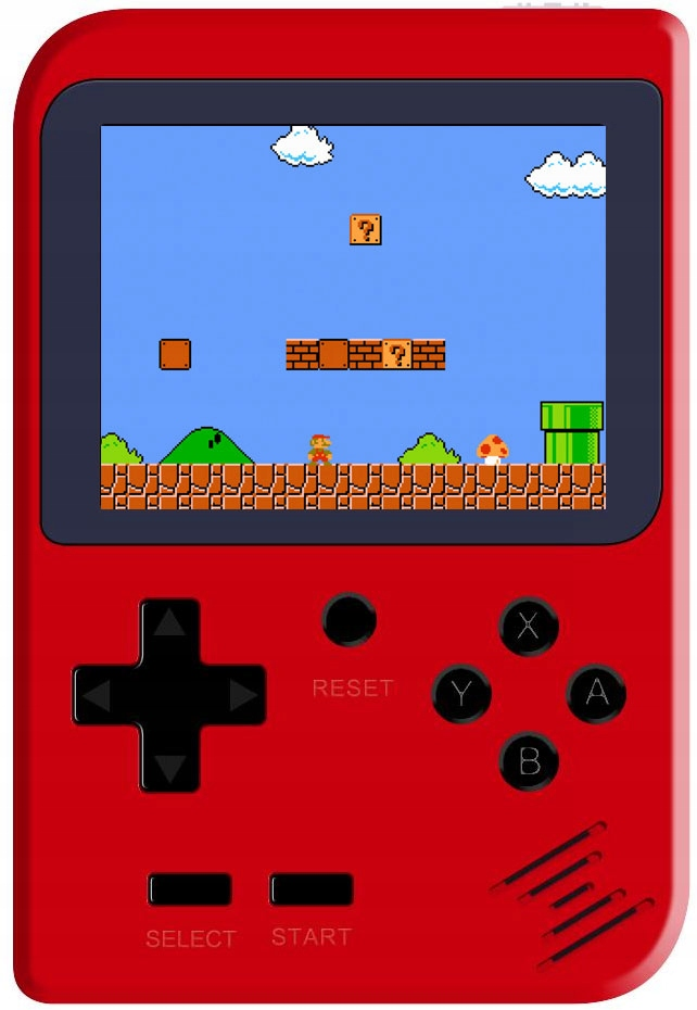 Item Portable console SCREEN 2.8 168gier RETRO RED
