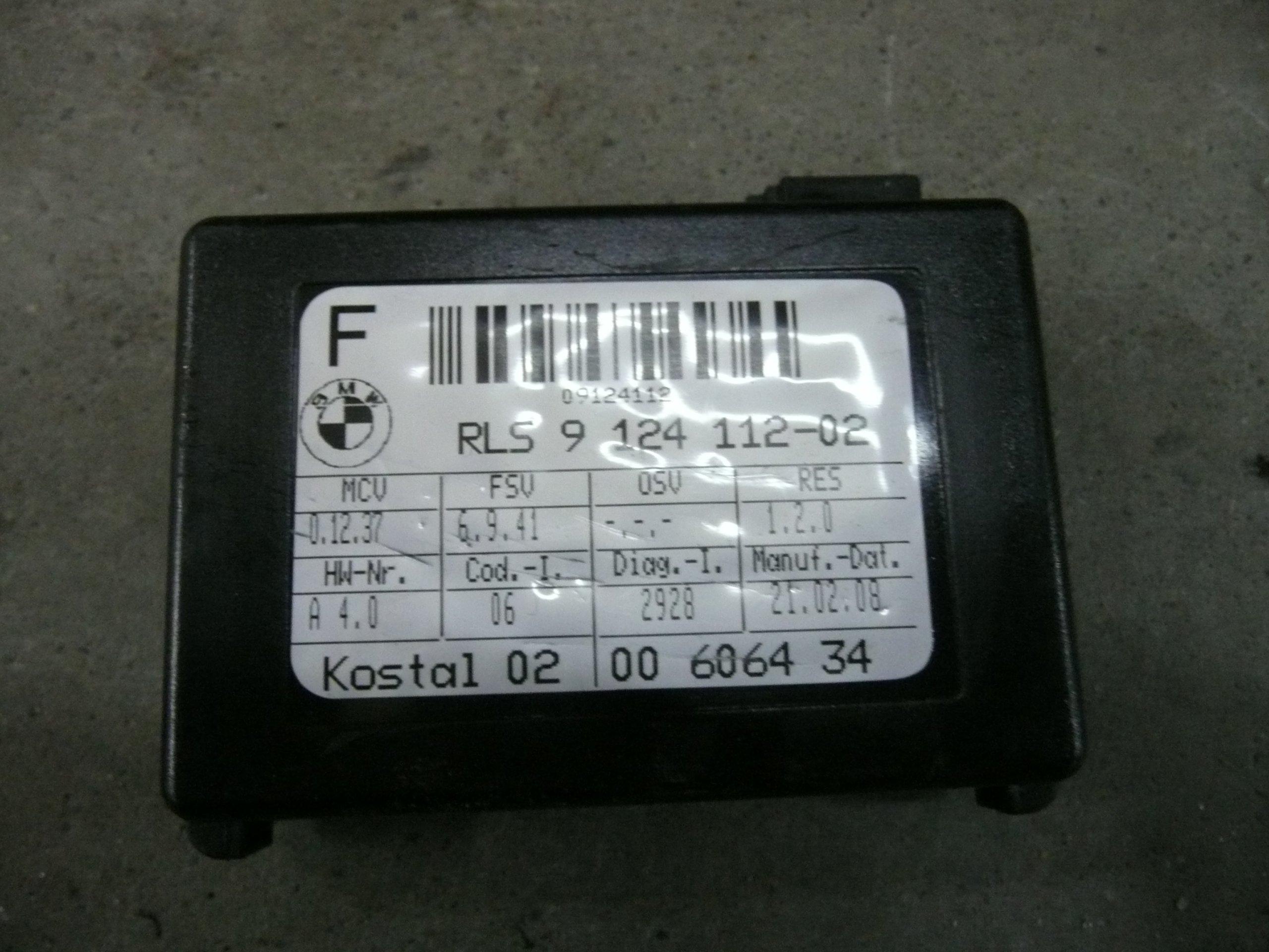 bmw e91 e92 e93 датчик дождь 9124112