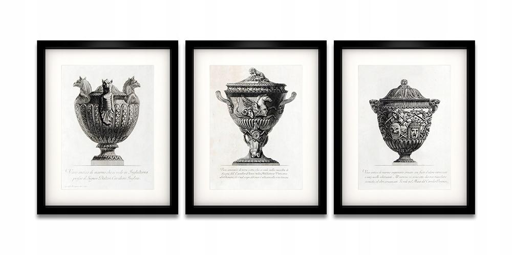 Litografie vintage 3 kusy nastaviť 40x50 plagáty