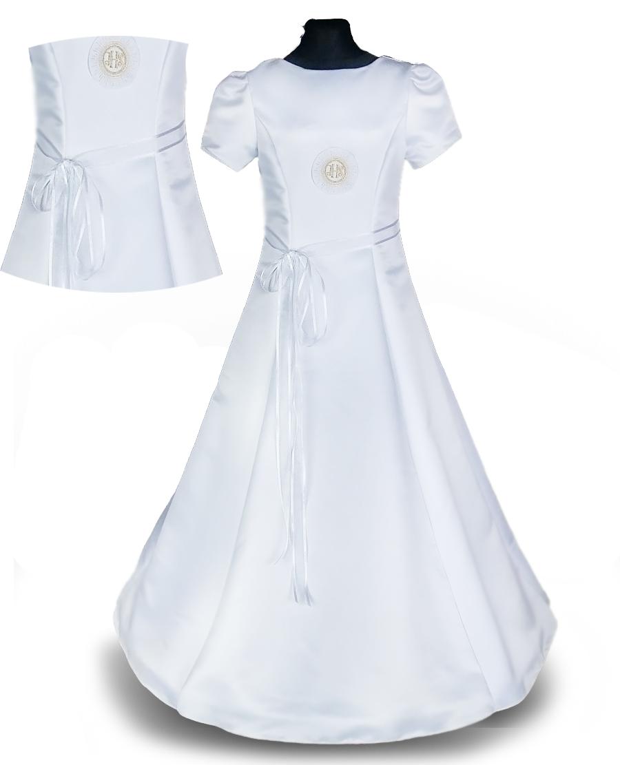 accd30099f PL Piękna sukienka komunijna taliowana ALBA 134 7295745223 - Allegro.pl