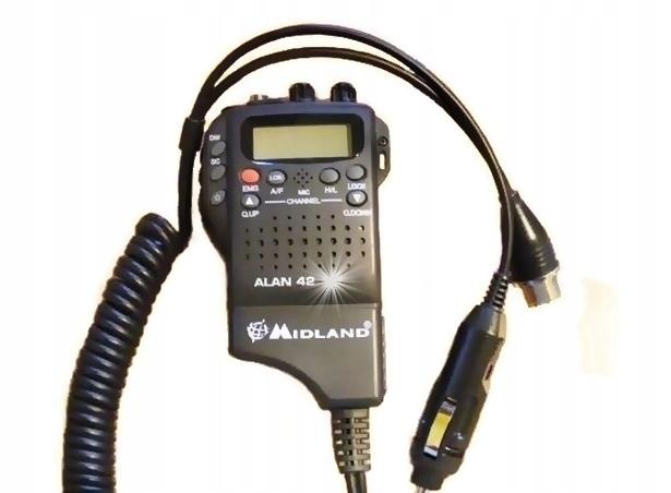 RĘCZNE RADIO CB - MIDLAND ALAN 42 DS - LEGENDA Modulacja AM FM