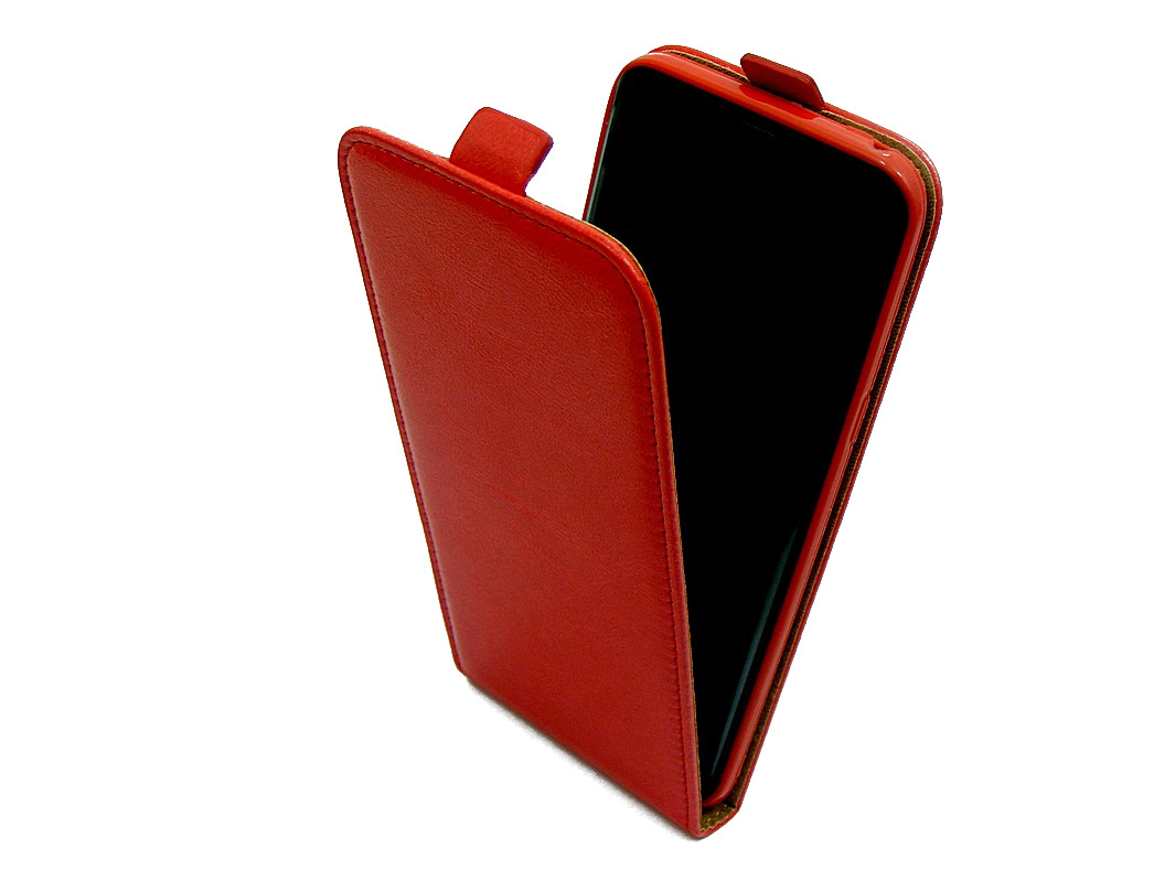 ETUI GUMOWE Z KLAPKĄ Huawei P8 LITE ALE L21 czerwo