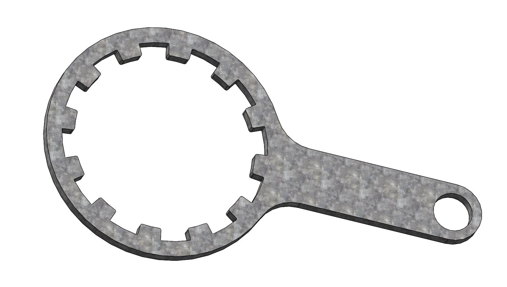 металлический Ключ корпуса фильтра Воды 10