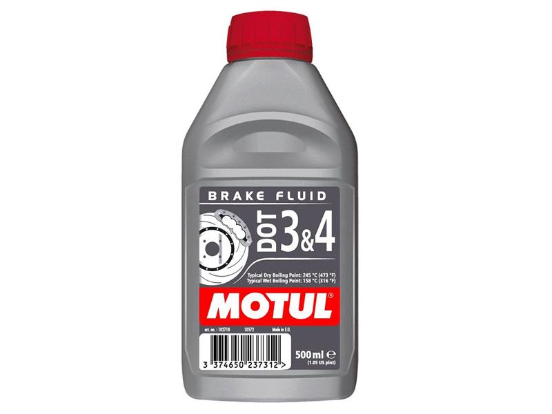 MOTUL DOT3&4 Тормозная Жидкость DOT3 DOT4 500мл