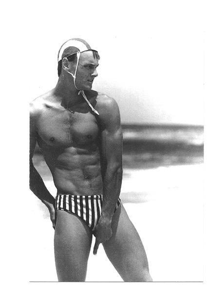 Pocztówka - Pływak i jego twarzowy czepek pływacki