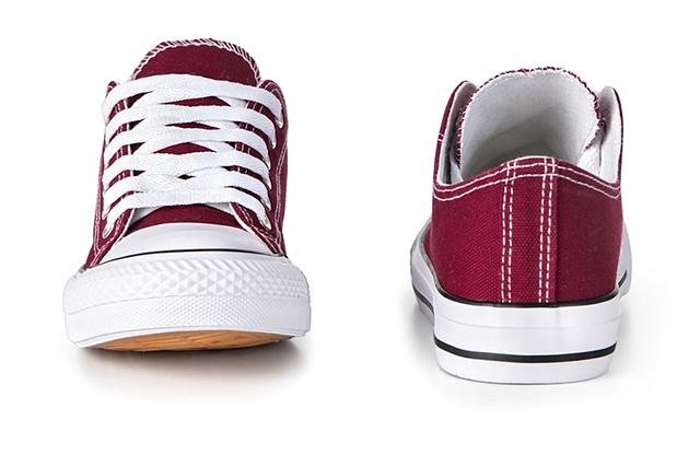 Buty sportowe Trampki tenisówki Bordowe f39
