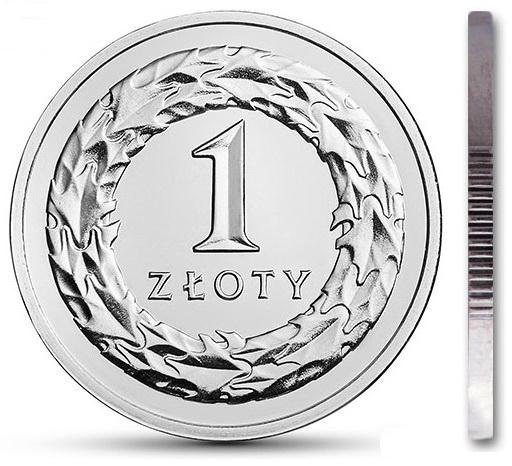 Монета 1 злотый 2013 мятная из мешочка