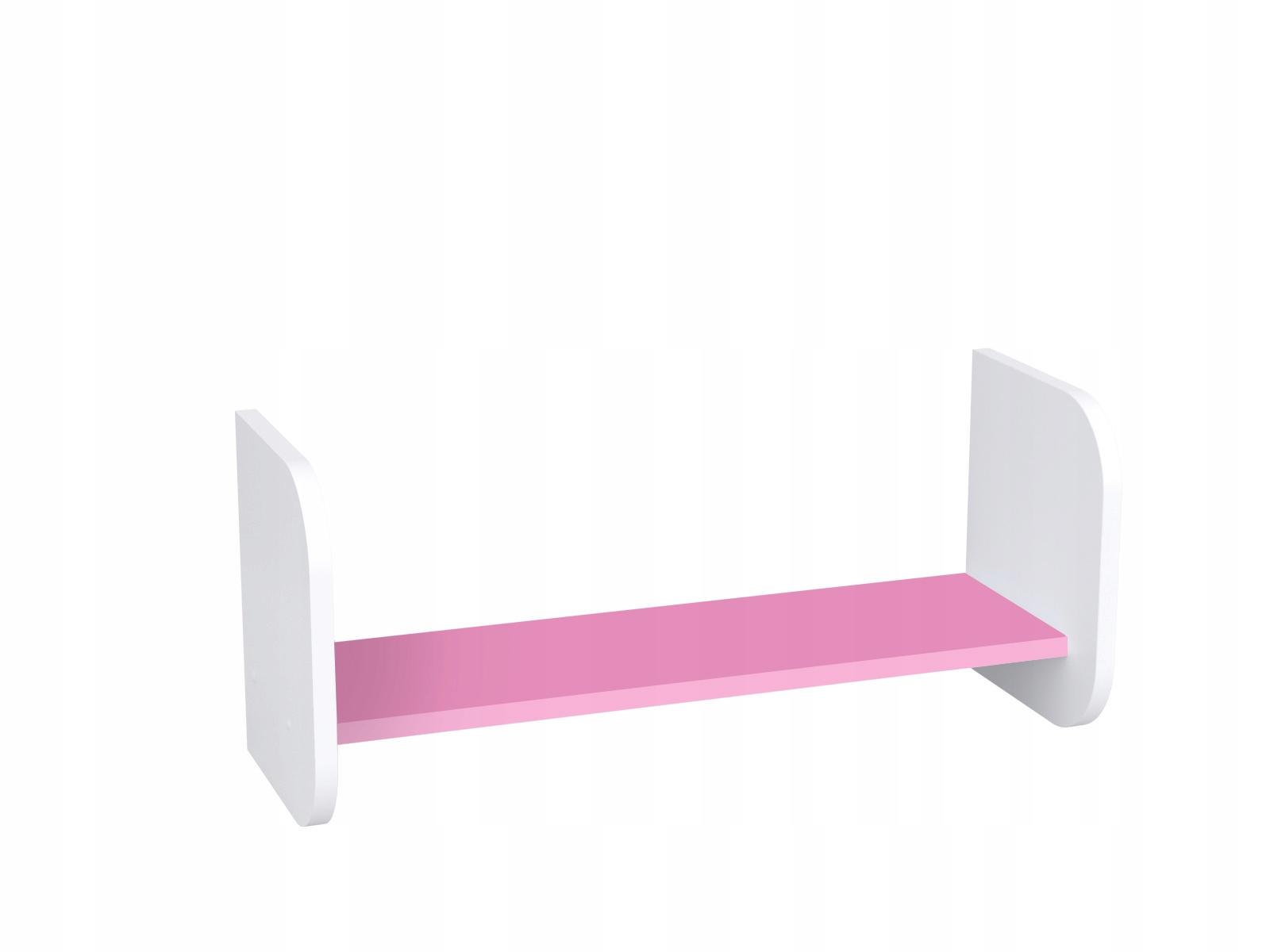 014 70 Polica biela ružová knihy, hračky