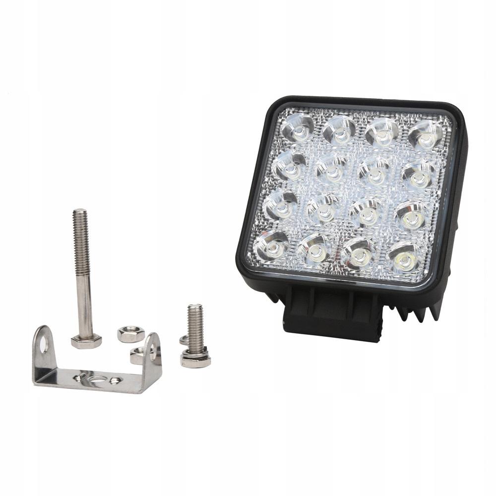 рабочая лампа 16 led диодов галоген 48w 12-24 v