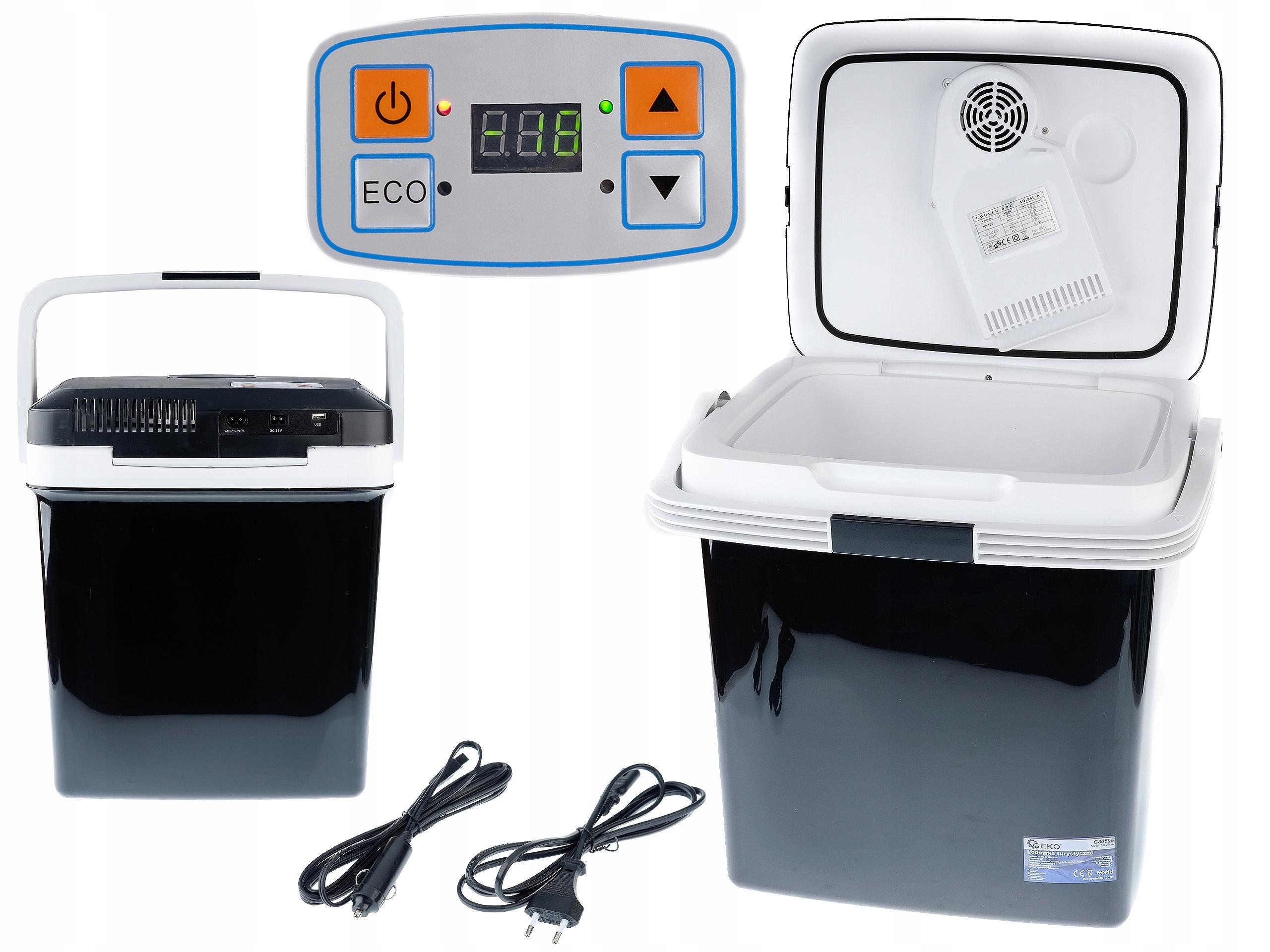 Chladnejšie taška 12V AUTO a 230V LCD 26L