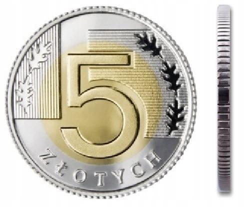 Монета 5 злотых 1994 г. из мешочка