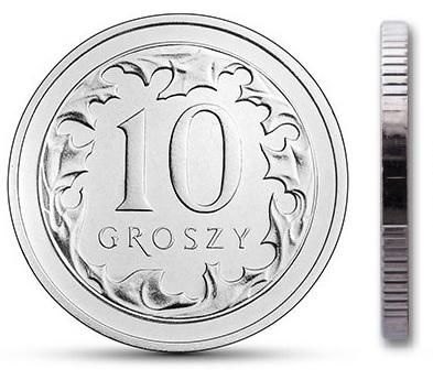Чеканка 10 грошей 2001 г. с мешком