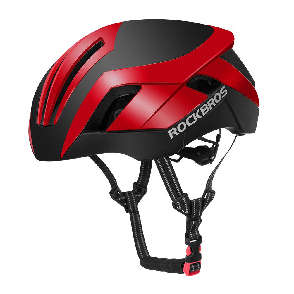 Шлем велосипедный легкий вес Rockbros 57-62см красный