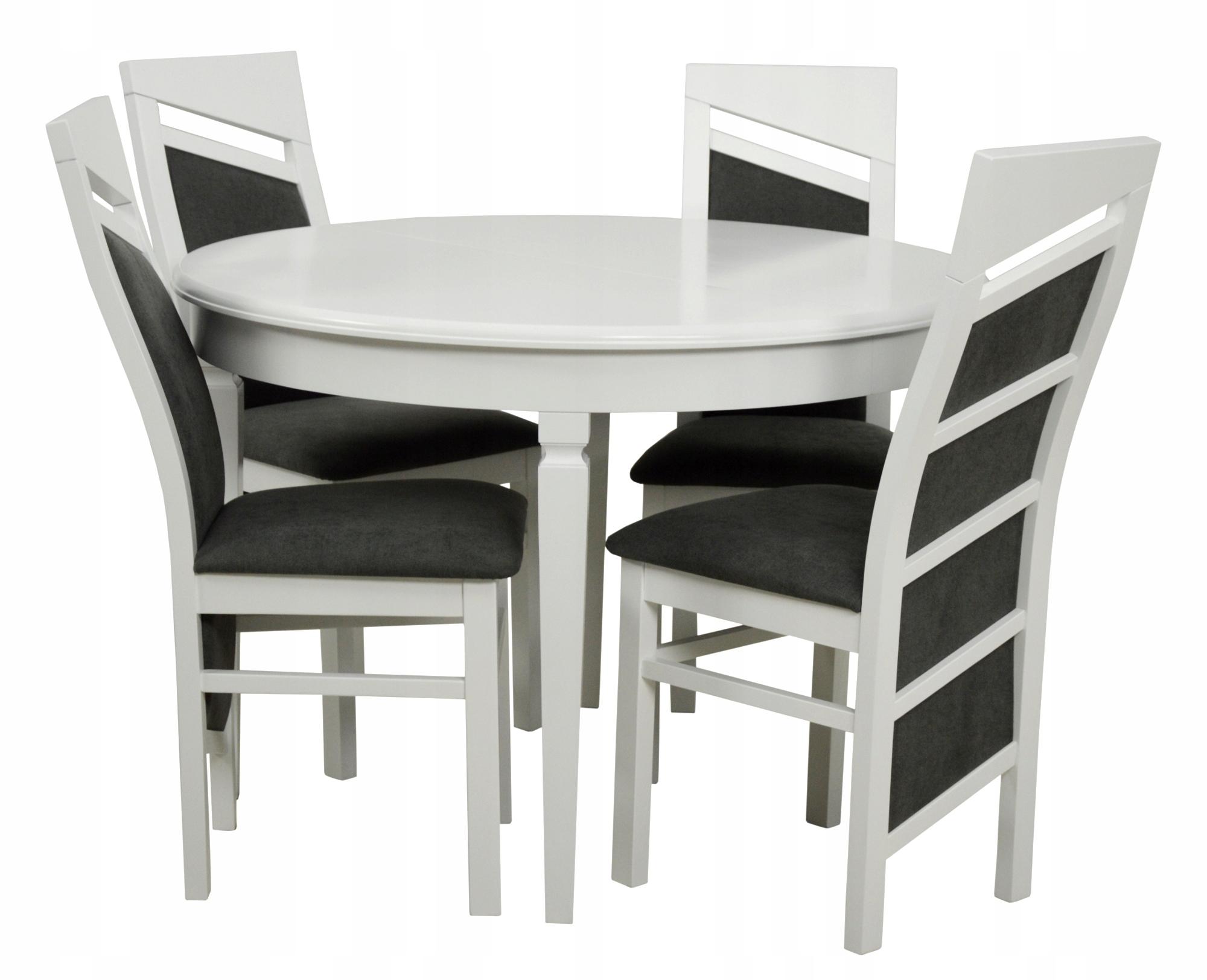 05a231d53c70 Nastaviť GANCI biely okrúhly jedálenský stôl 4 stoličky