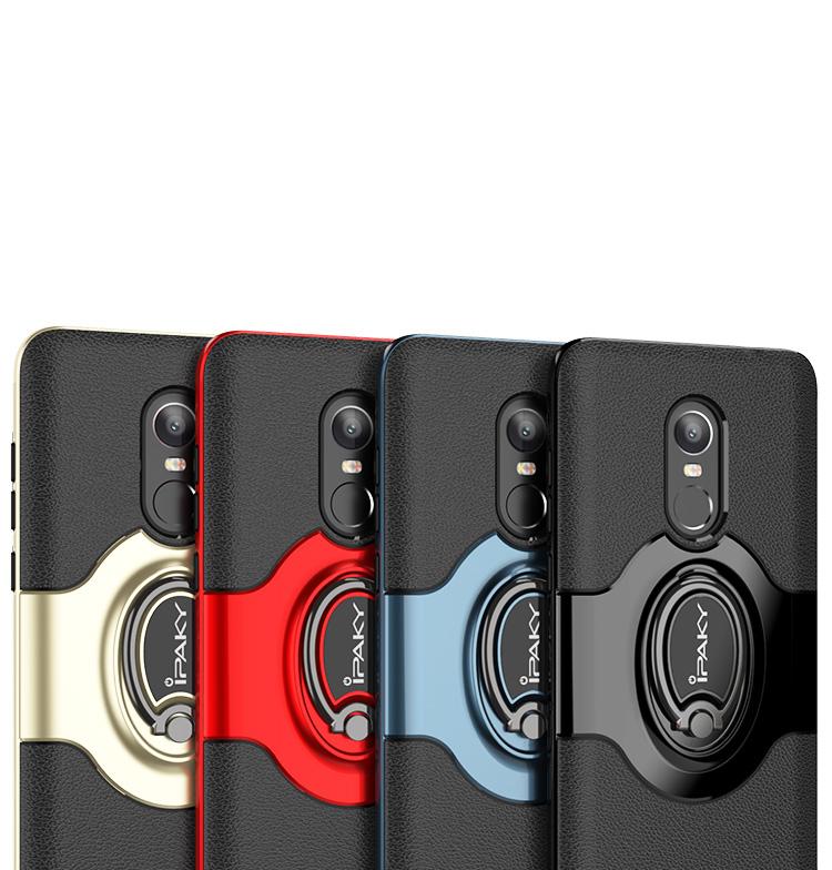 Etui Ipaky Xiaomi Redmi Note 4 z uchwytem Czerwony