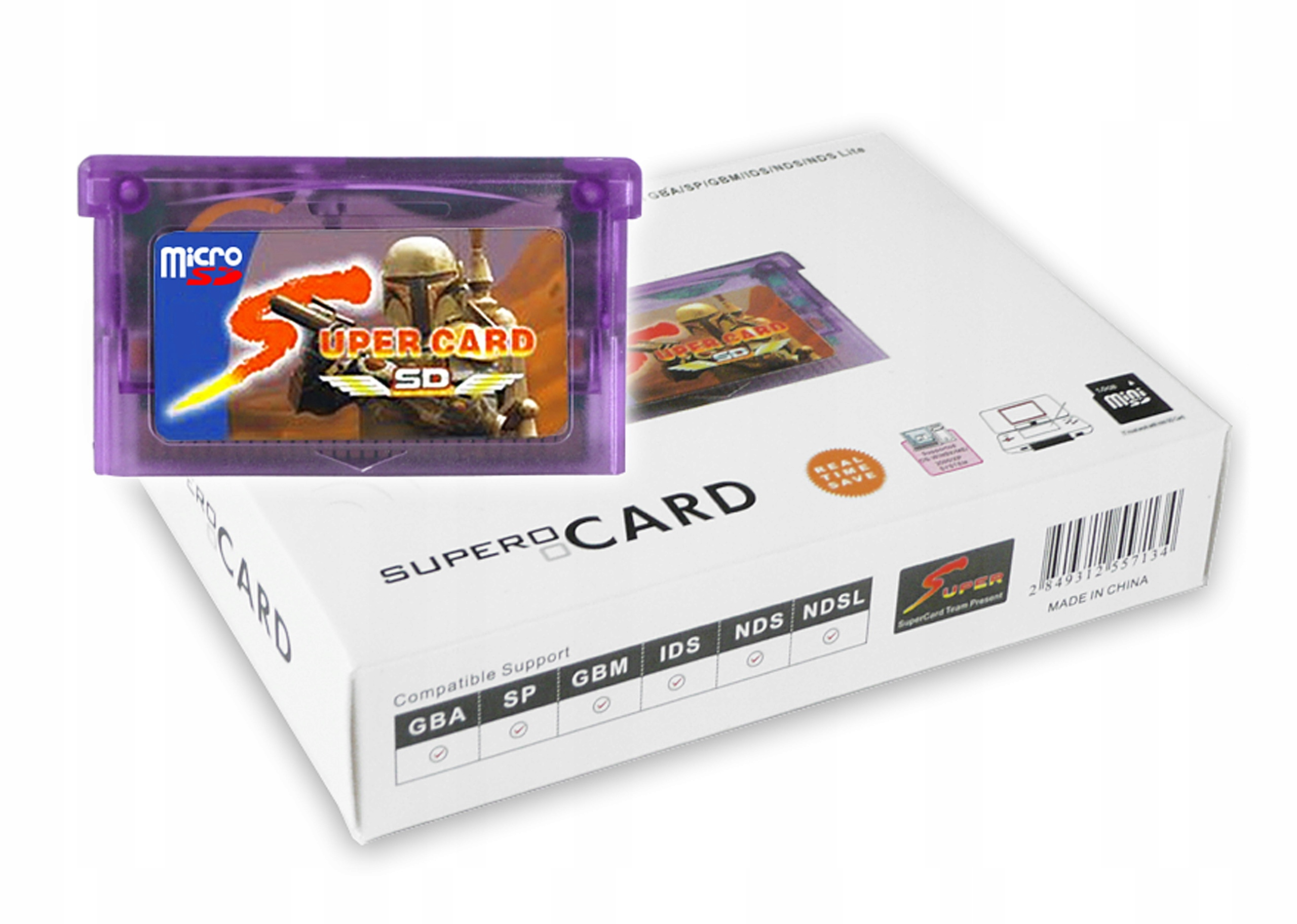SUPER KARTA SUPERCARD MICRO SD REKORDÉR DS GBA GB