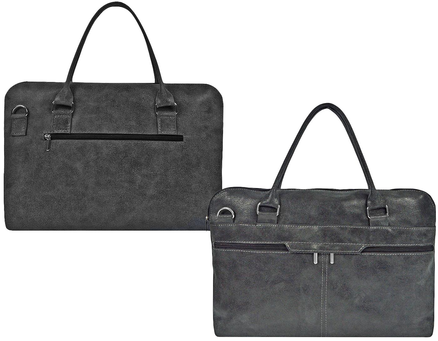 Elegancka torba skórzana mieści format A4 laptopa