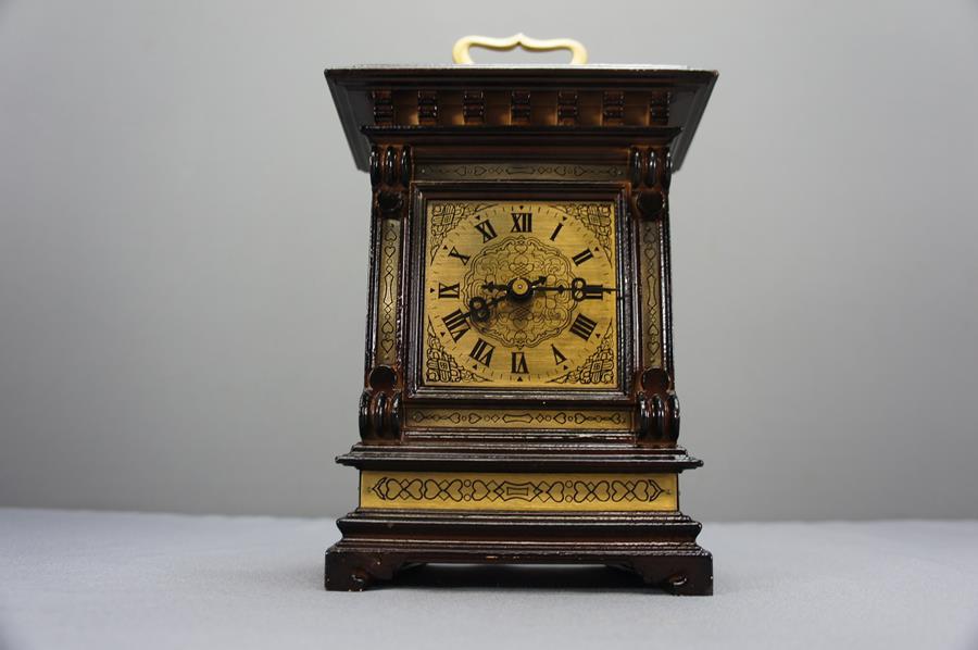 Piękny Stary Zegar Na Kominek Nakręcany