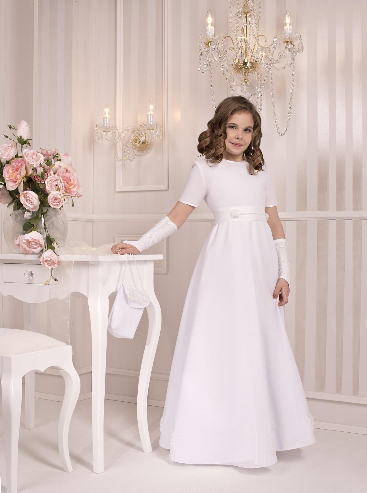 75d0201dc0 Sukienka komunijna Sukienki Poezja gładka rozm 146 - 7256289881 ...