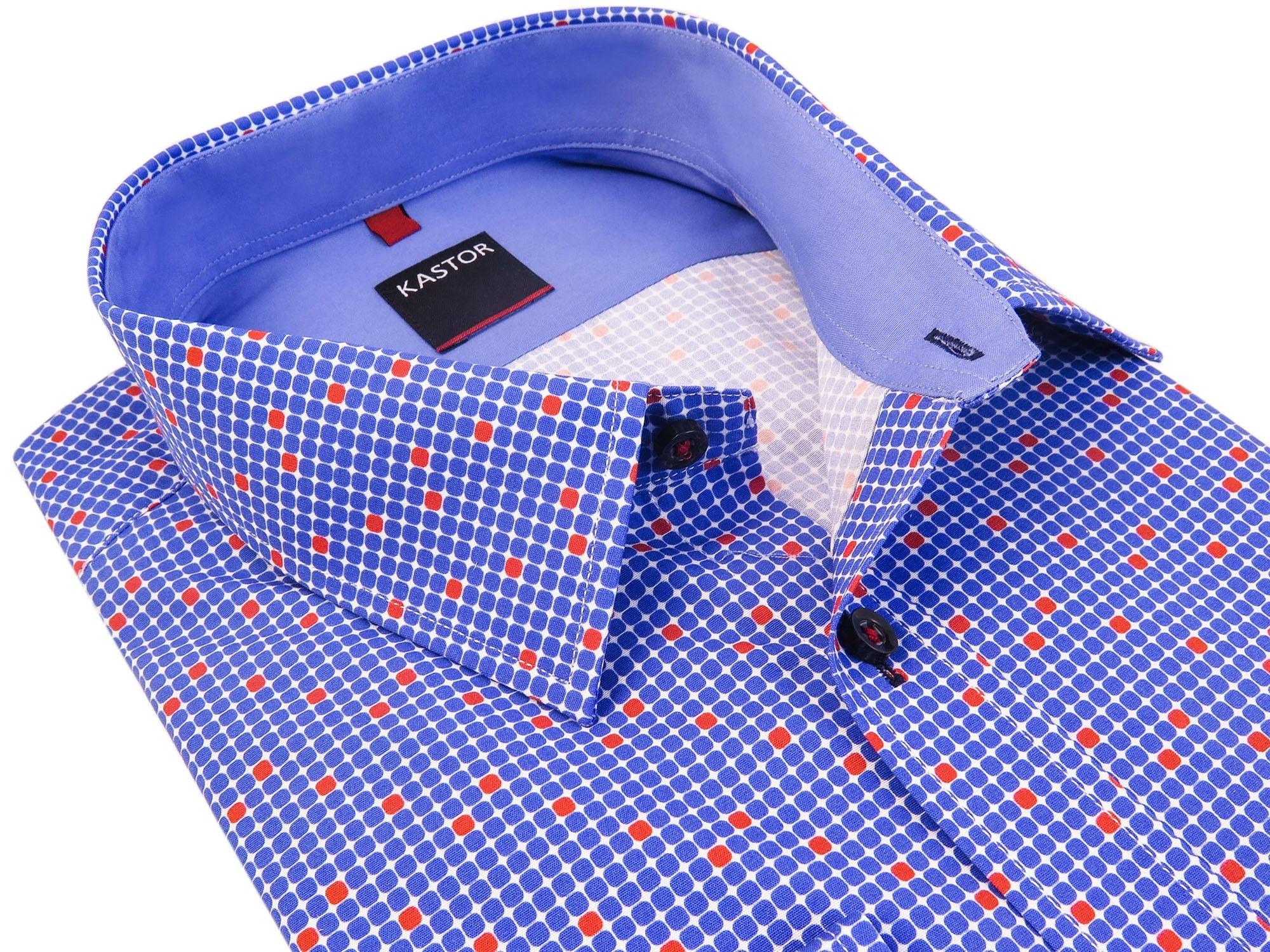 458de52ed Niebieska koszula męska KASTOR 176-182 44-SLIM K64 - 7340616179 ...
