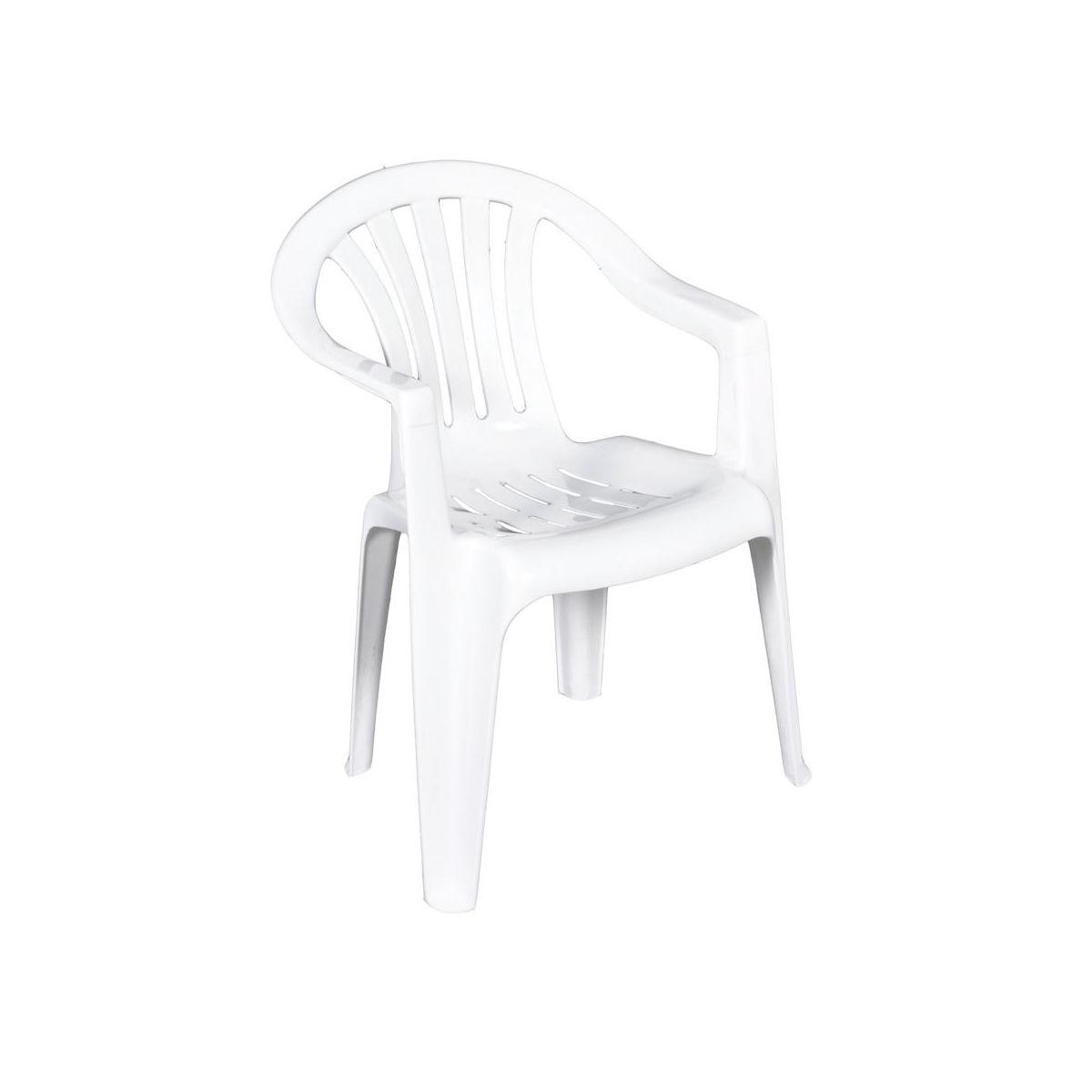 Krzesło Plastikowe Ogrodowe Balkonowe Cyrkon Białe