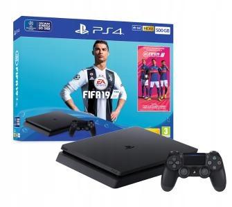 KONSOLA SONY PS4 SLIM 500GB CUH-2216A + FIFA 19