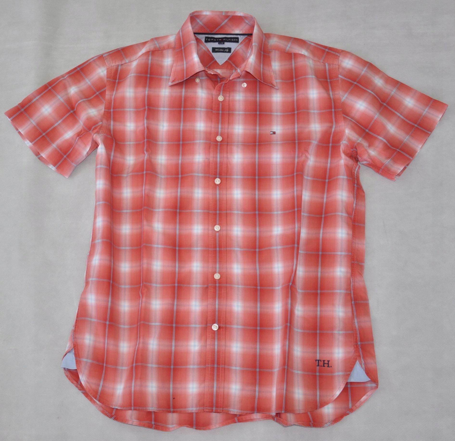 8eca5135d TOMMY HILFIGER modna koszula męska w kratkę L/G 42 - 7525748836 ...