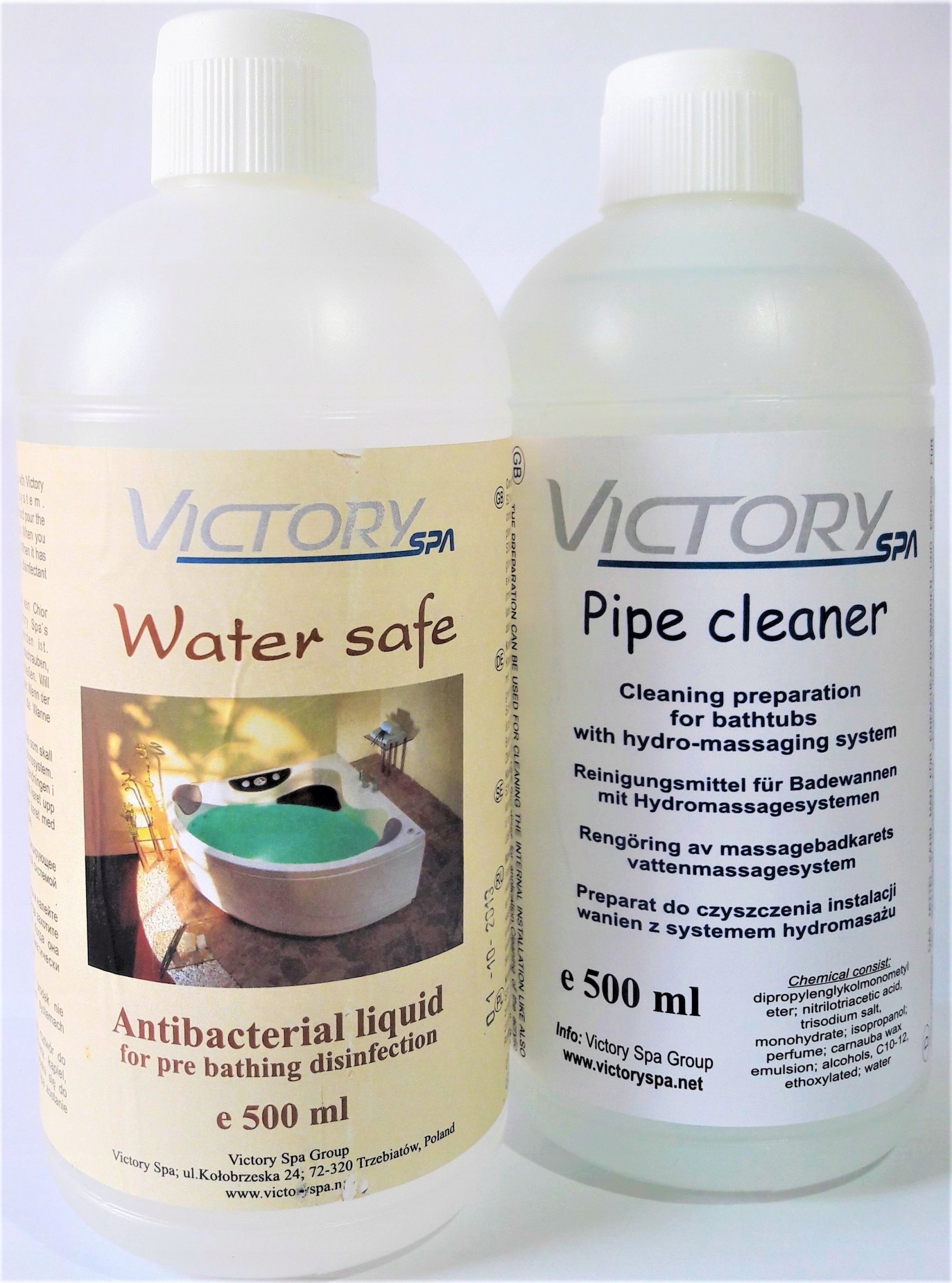 Water safe + Pipe cleaner Victory Spa płyn wanny - 7291519303 ...