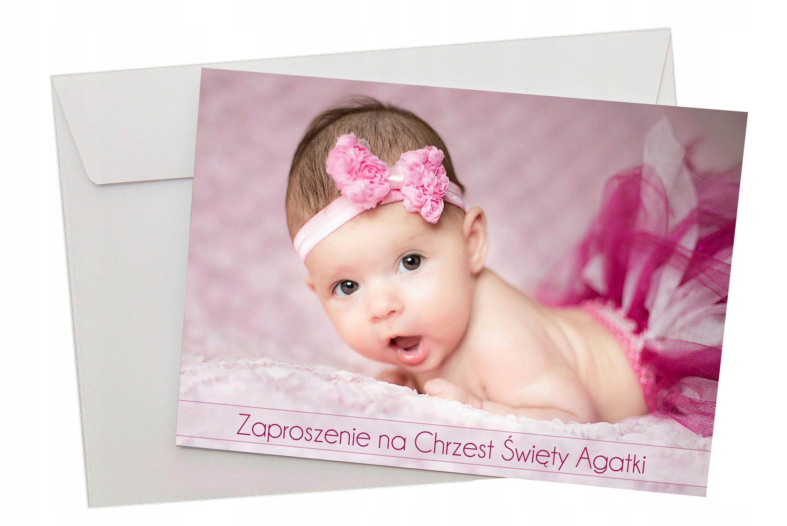 Zaproszenia Na Chrzest Roczek Urodziny Fotograf 7476092215