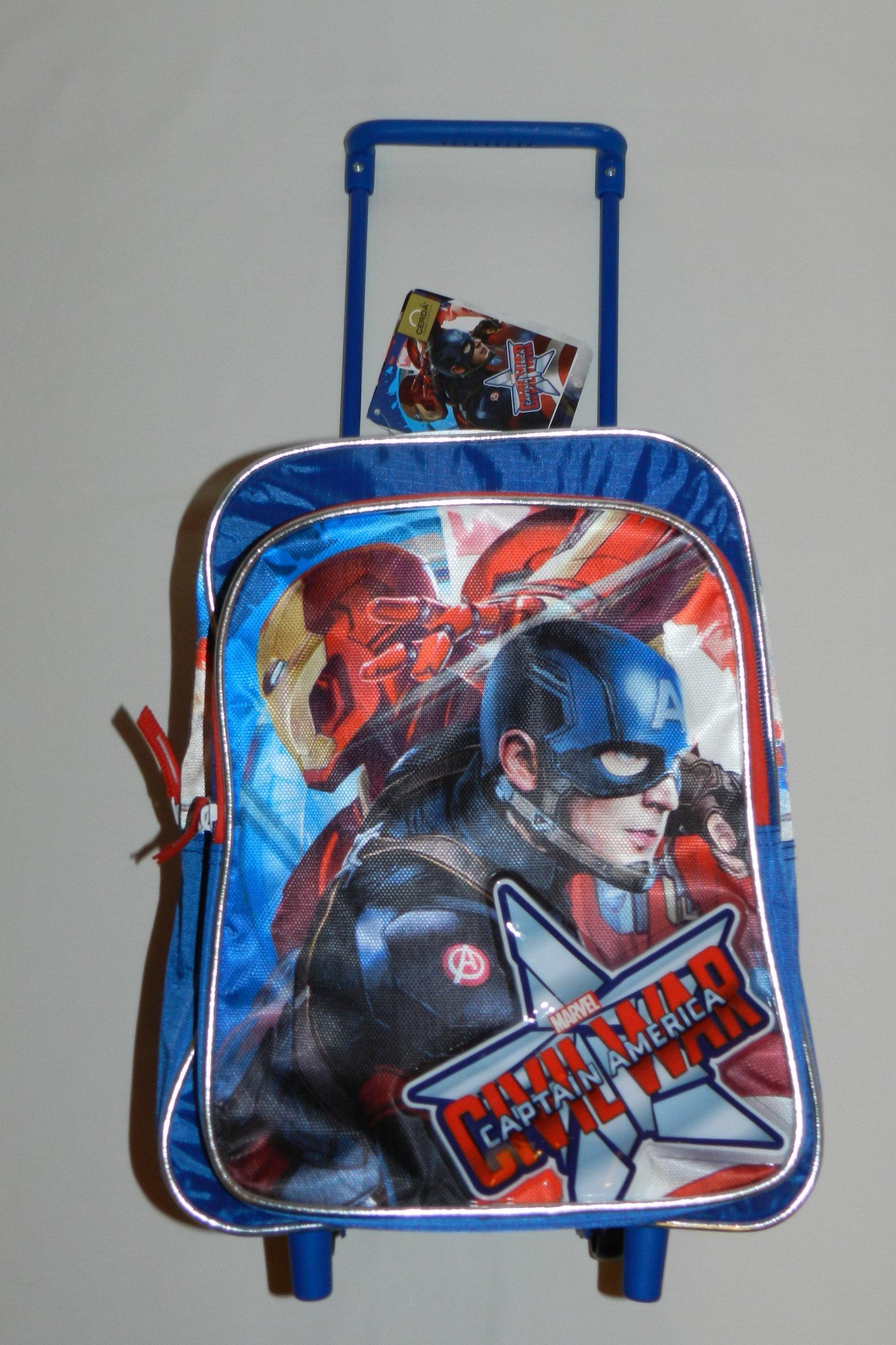 45d707f14e5ca Cerda Plecak Plecaczek Avengers Marvel na kółkach - 7534186471 ...
