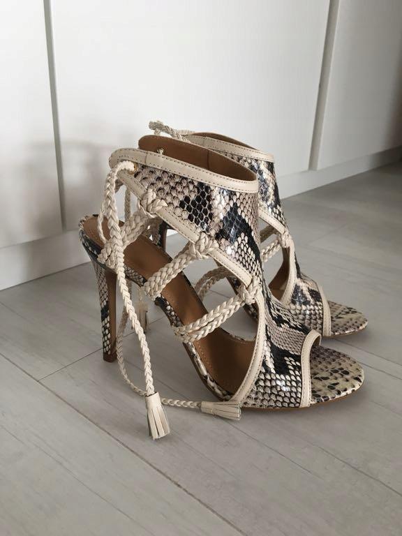 7d4de855 KAZAR sandały szpilki 37 skóra wężowe bdb - 7483839146 - oficjalne ...