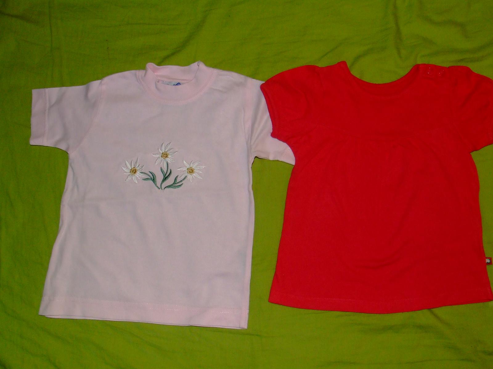 Koszulka T-shirt 2 szt rozm. 80 czerwona [445]