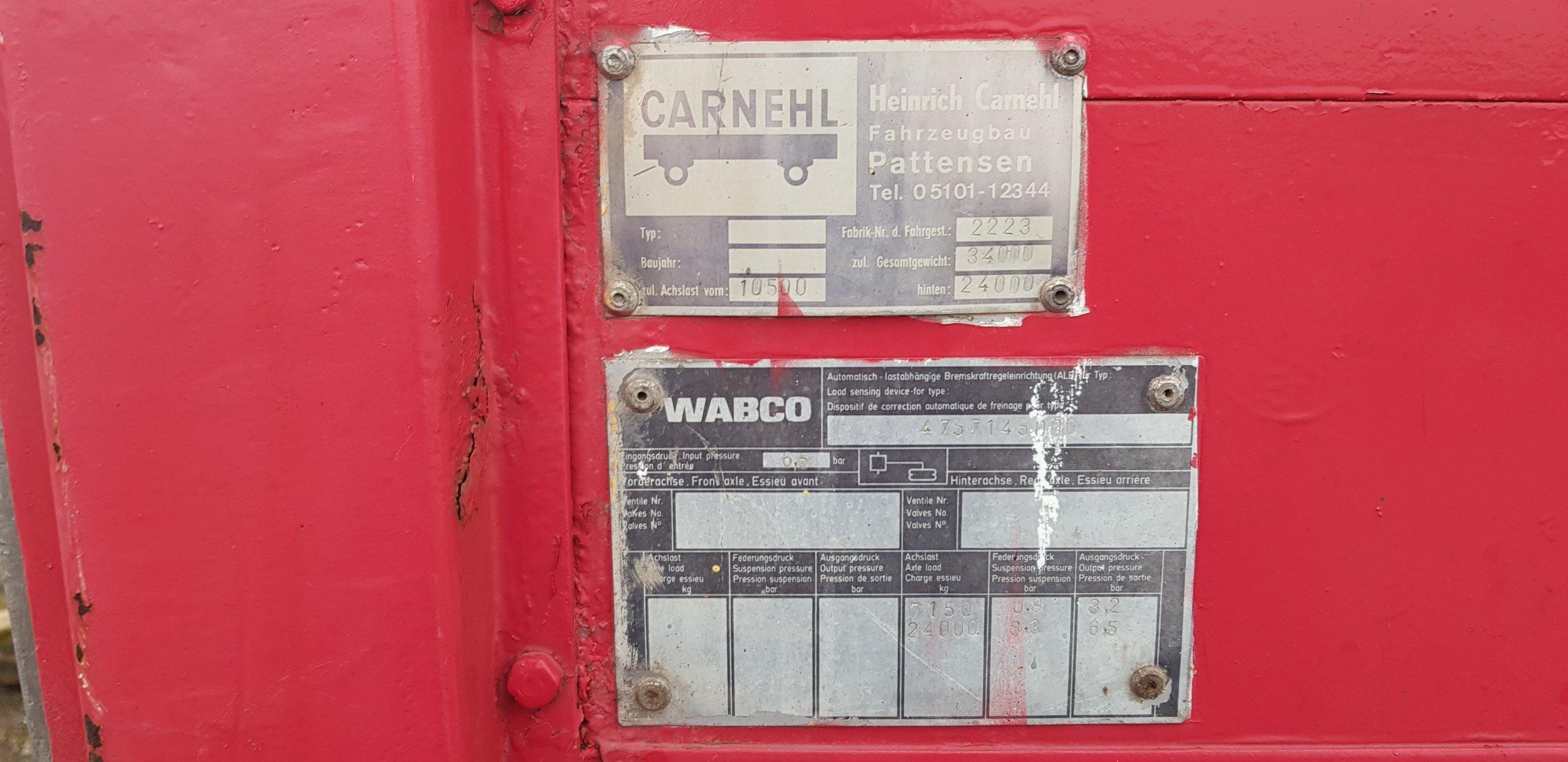 Naczepa burtowa Carnehl + HDS 13 6m - 7291337896 - oficjalne