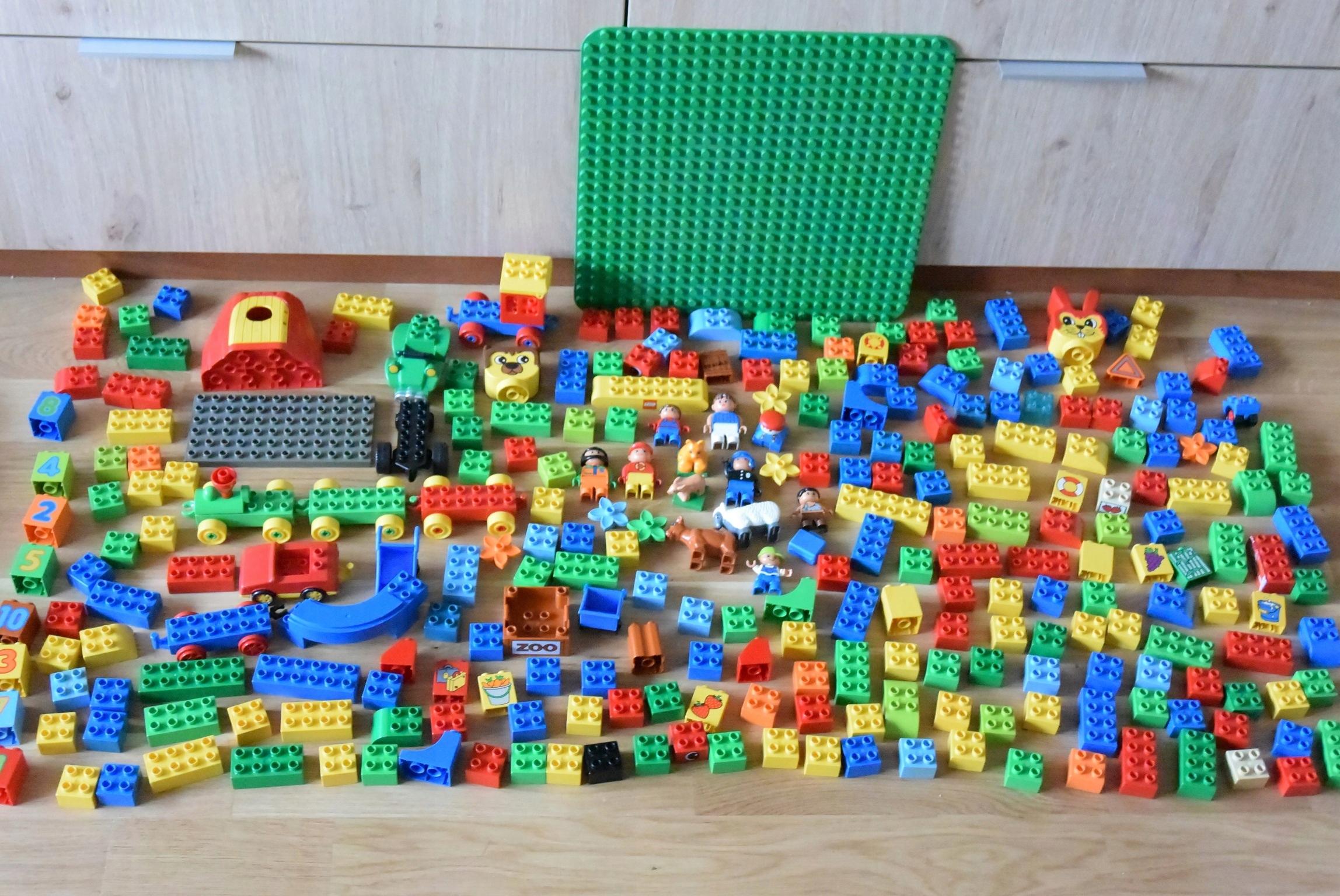 Klocki Lego Duplo Mega Zestaw Płytka Klocki Ludzik 7515465273