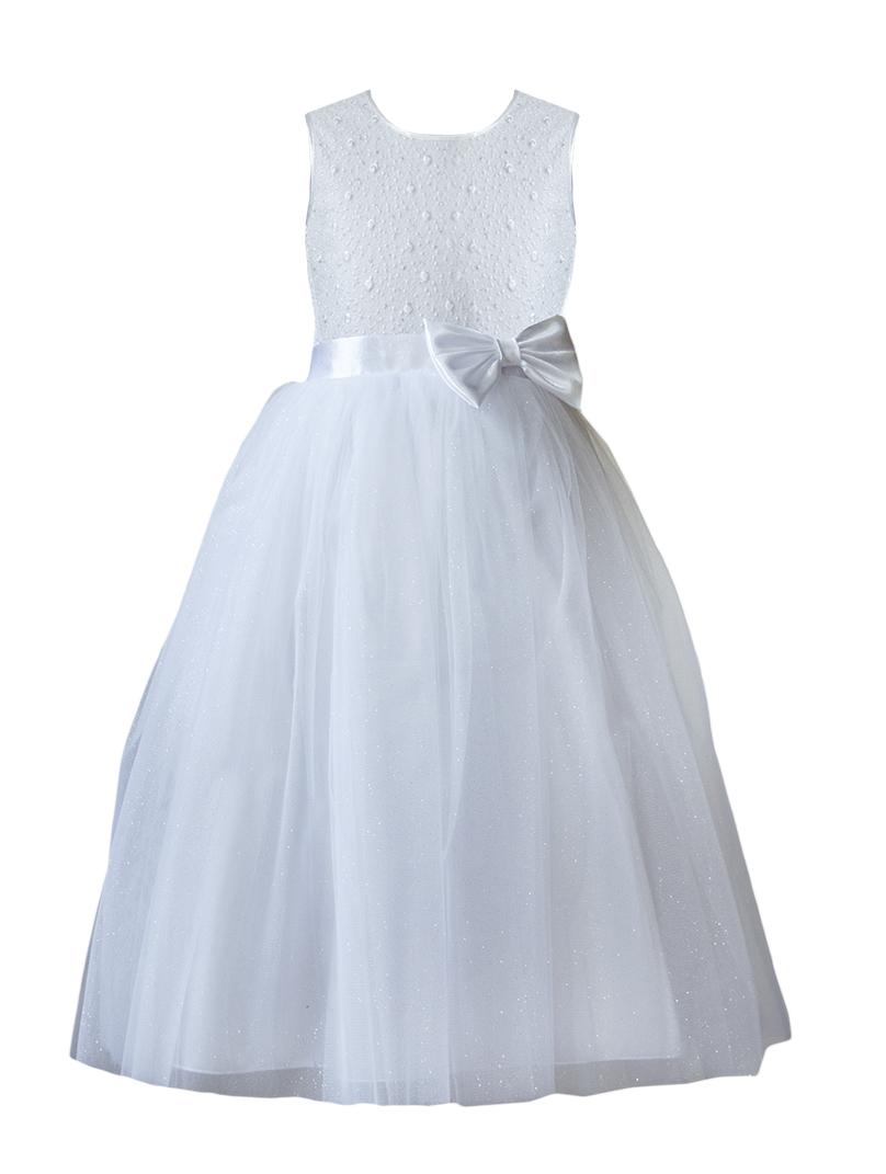 59eab7fb98 Sukienka tiulowa długa komunia wesele druhna 134 - 7229984396 ...