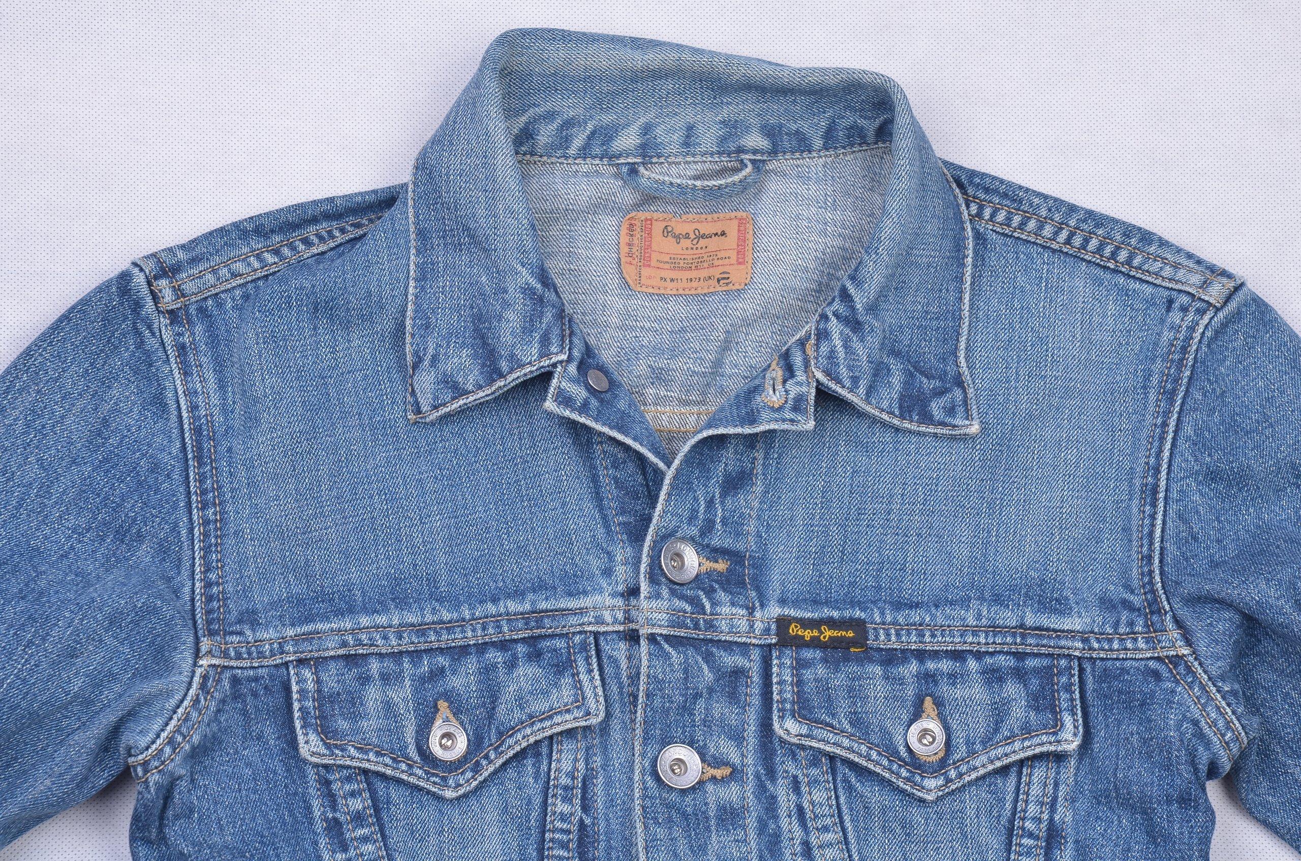 c7f3e1618b4bb Pepe Jeans LONDON KURTKA KATANA JEANSOWA TRUCKER M - 7384019076 ...