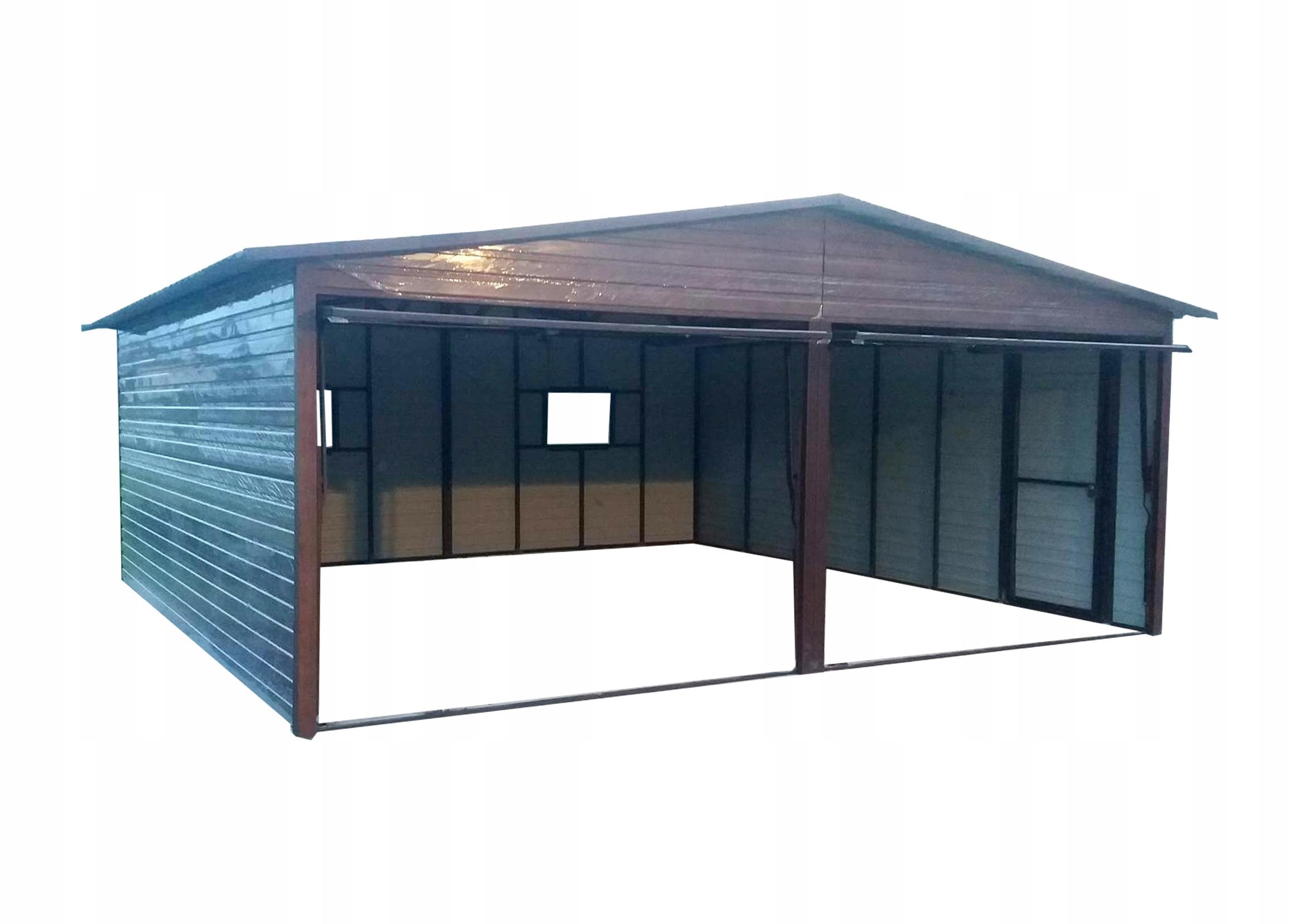 Garaż Blaszany Drewnopodobny Złoty Dąb 6x6m Raty 7251743081