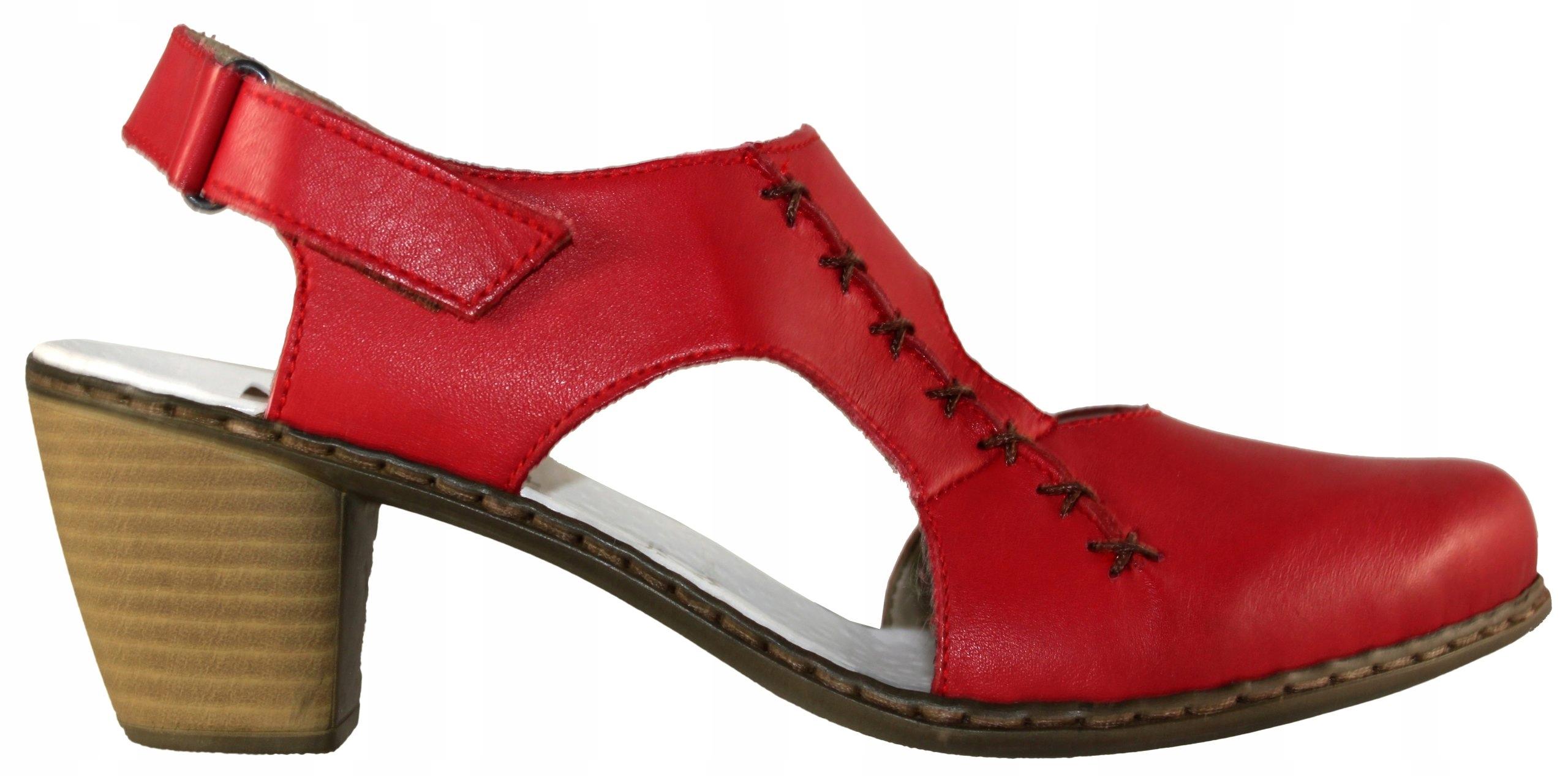 9d8474a5 RIEKER 40950-33 sandały czerwone 36 PIEKNEBUTY - 7315293588 ...