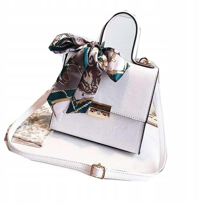 a1ab7f2f78dfa Torebka kuferek biała elegancka z apaszką - 7671878503 - oficjalne ...