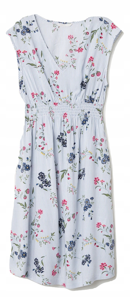 331359ca4a H M MAMA sukienka ciążowa kwiatki 42 XL - 7480782504 - oficjalne ...