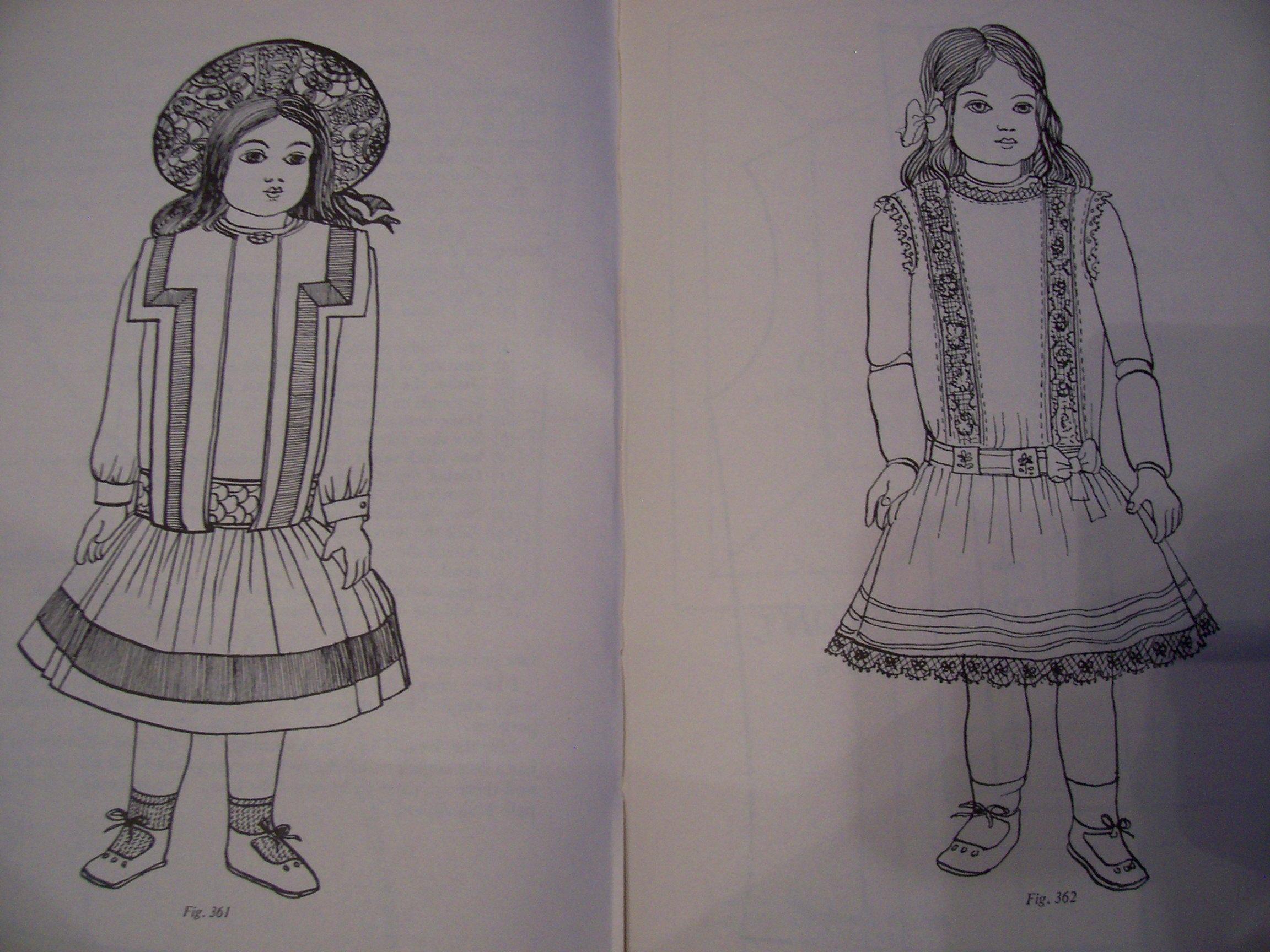 Wykroje  dla LALEK stylowe suknie XIX w  tilda