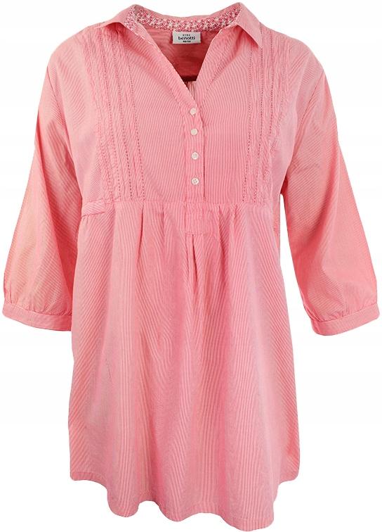 c1f391ee47 mG6104 Długa koszula tunika w paski 52 - 7462906350 - oficjalne ...