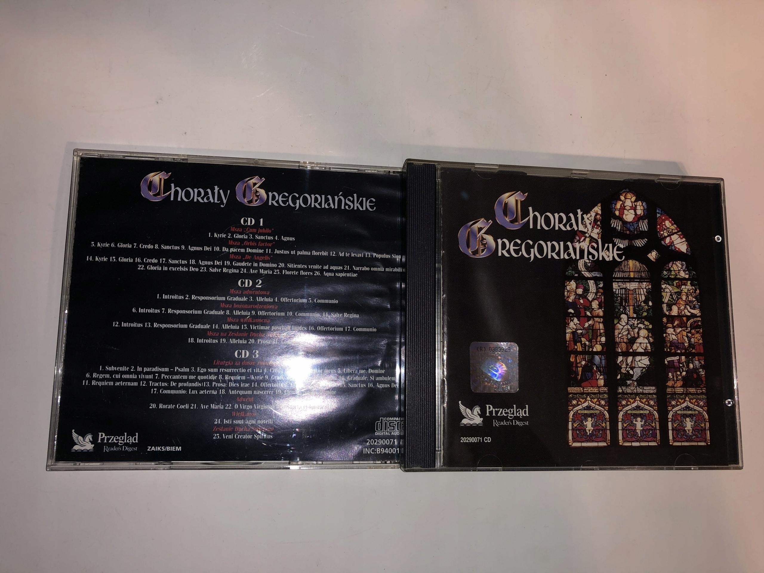 Chorały Gregoriańskie Reader's Digest 3CD