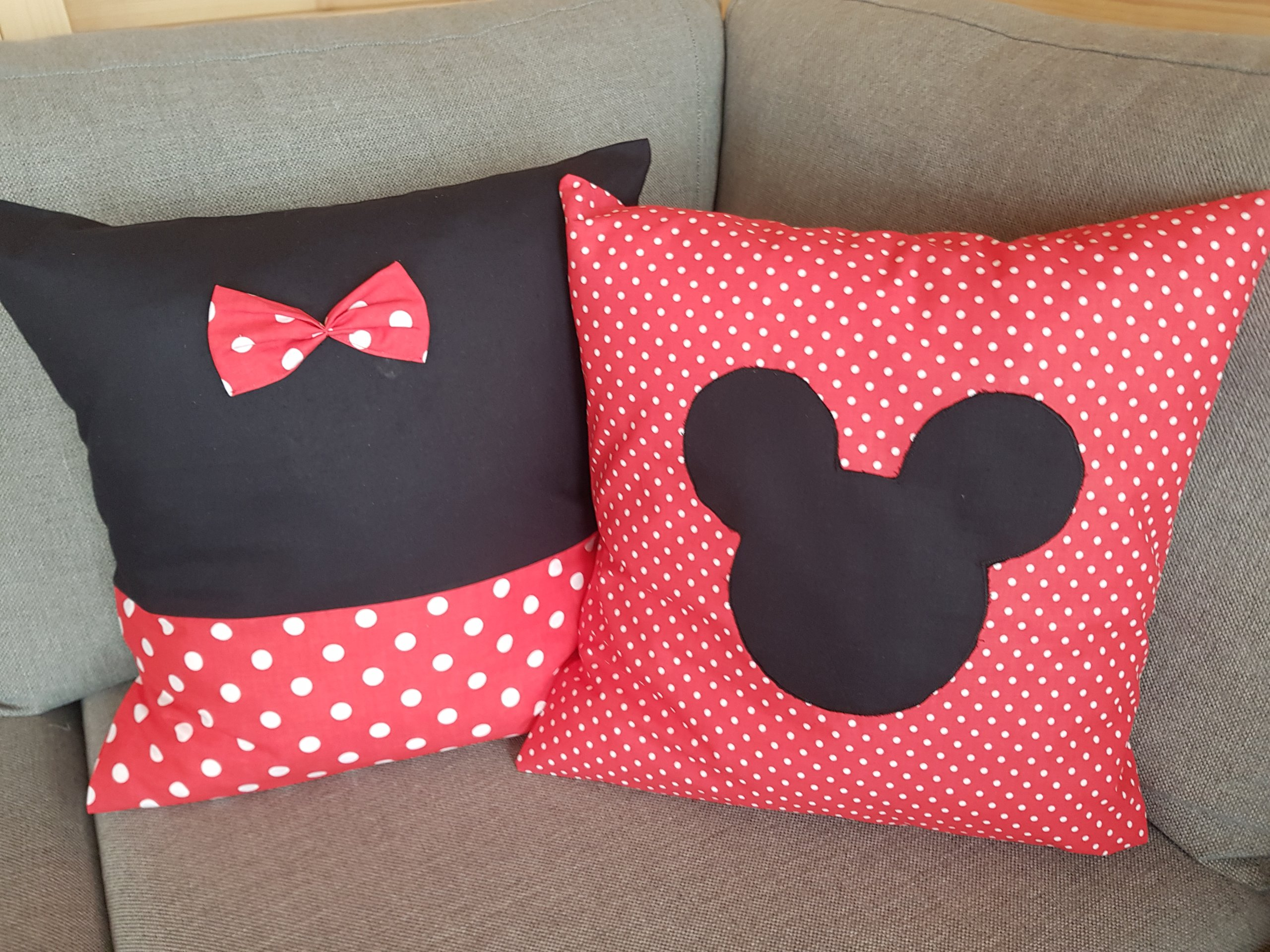 Zestaw Poduszek Disney Dekoracyjne Czerwone 7255481908